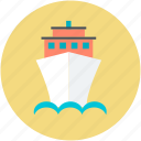 cruise liner, cruise ship, floating hotel, luxury liner, transport icon