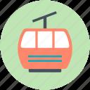 aerial lift, aerial tramway, detachable, ropeway, ski lift
