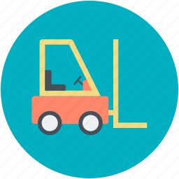 bendi truck, counterbalanced truck, fork truck, forklift truck, golf cart icon