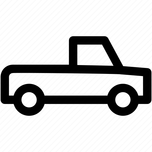 hatchback, light lorry, pick up, transport, vehicle icon