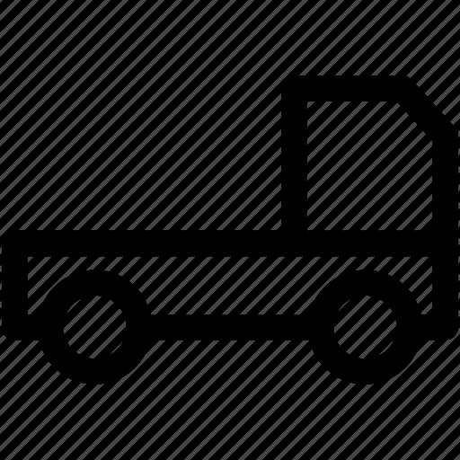hatchback, light lorry, pick up, transport, vehicle icon