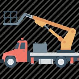 crane truck, tow truck, transport, truck, vehicle icon