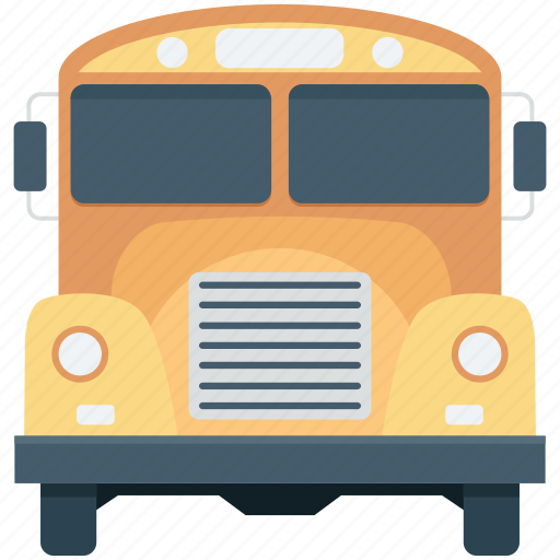 bus, school bus, transport, travel, vehicle icon