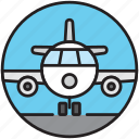 airline, airplane, airport, flight, flying, plane, sky icon