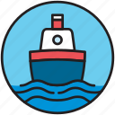 boat, cargo, cruise, sailor, ship, shipping, transport icon