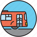 autobus, city transport, driving, public transport, transport, transportation icon