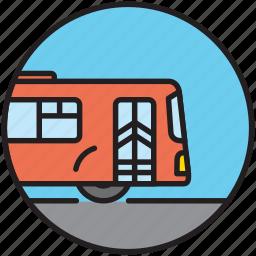 autobus, city transport, driving, public transport, transport, transportation icon