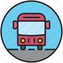 autobus, city transport, driving, front, public transport, transport, vehicle icon