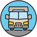 camp, camping, front, home, motorhome, transport, vacation icon