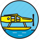 airplane, flight, flying, hydro airplane, hydroplane, seaplane, transport icon