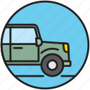 adventure, car, crossover, offroad, safari, transport icon