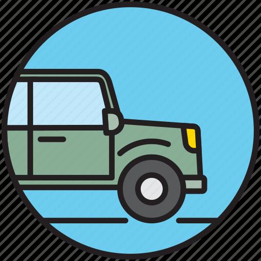 adventure, car, crossover, offroad, safari, transport icon