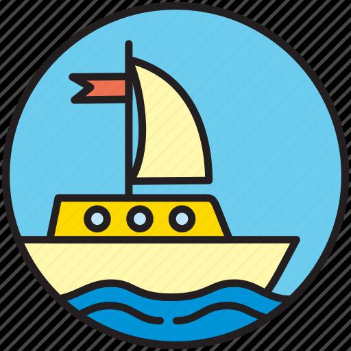 boat, nautics, sailboat, sailing, ship, transport, yachting icon
