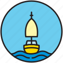 front, nautics, sailboat, sailing, sailor icon
