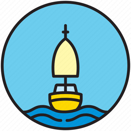 front, nautics, sailboat, sailing, sailor icon