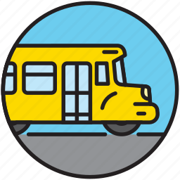 bus, driving, public transport, school bus, schoolbus, transport icon