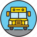 bus, public transport, school, school bus, schoolbus, transport icon