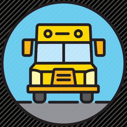 bus, public transport, school, school bus, schoolbus, transport icon