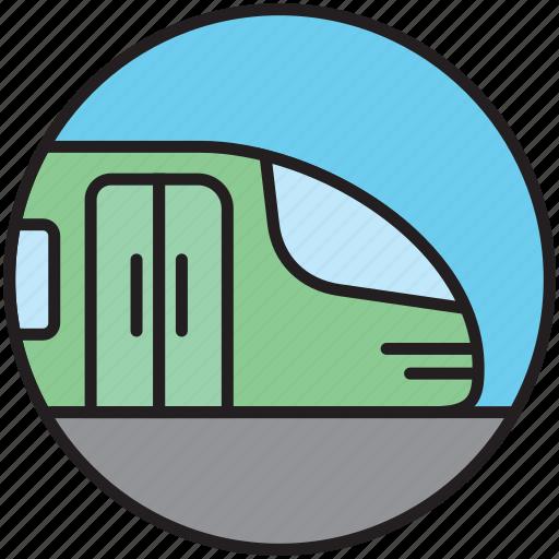 metro, public transport, railway, train, underground icon
