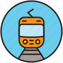 front, metro, public transport, railway, train, transport, underground icon