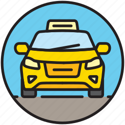 cab, car, front, taxi driver, transfer, transport icon