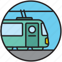 locomotive, public transport, railway, subway, train, transport, travel icon