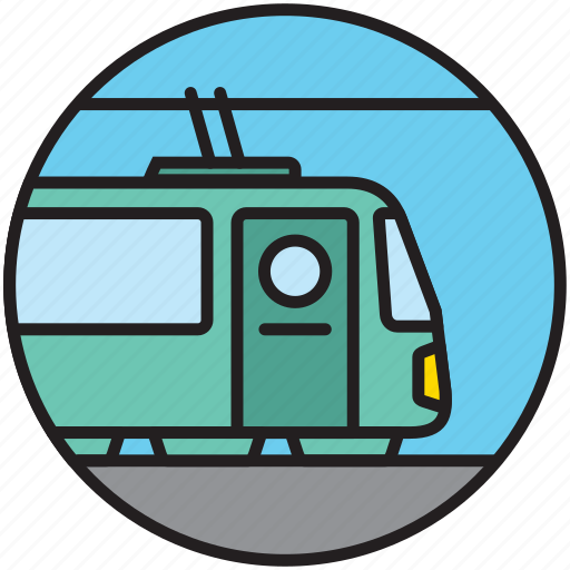locomotive, public transport, railway, subway, train, transport, travel icon