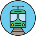 front, locomotive, public transport, railway, subway, train, transport icon