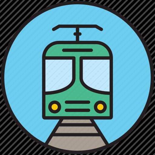 front, locomotive, public transport, railway, subway, train, transport icon