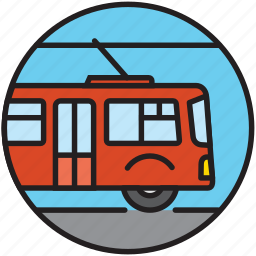bus, city transport, driving, public transport, trolley, trolleybus icon