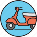 vespa, motorbike, driving, scooter, bike, motorcycle, transport icon