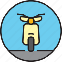 driving, motorbike, motorcycle, scooter, transport, vespa icon