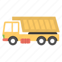 construction truck, construction vehicle, dump truck, transport, truck icon
