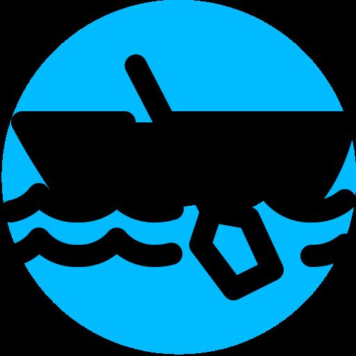 boat, canoe, canoeing, rowing icon