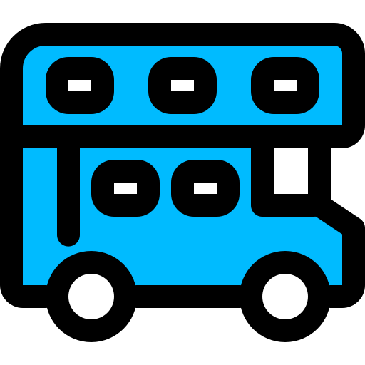 bus, decker, double, transportation, travel icon