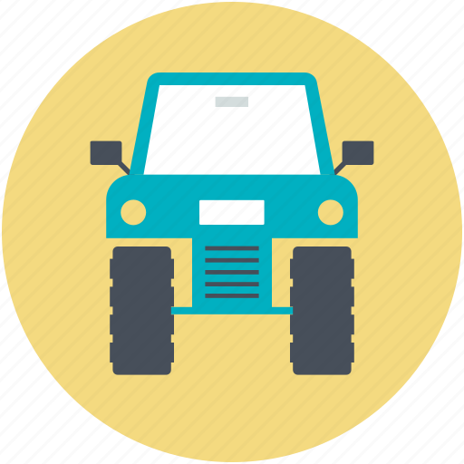 camo car, quad, quad car, transport, vehicle icon