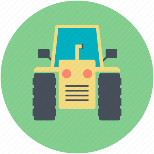 road roller, roller tractor, tractor, truck icon