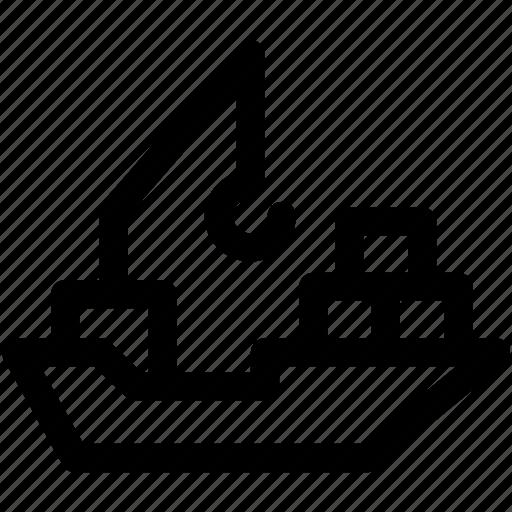 boat, cargo ship, sailing vessel, ship, shipping cruise icon