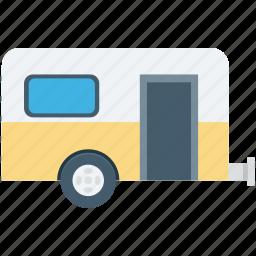 caravan, convoy, living van, living vehicle, van dwelling icon