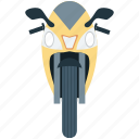 bike, heavy bike, motor bike, motorcycle, sports bike icon