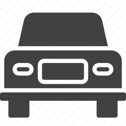 car, front, transport icon