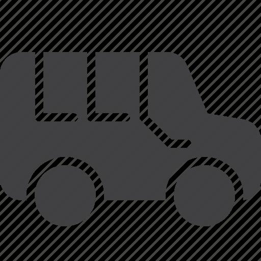 minibus, minivan, transport, van icon