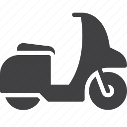 moped, motor, scooter, transport icon