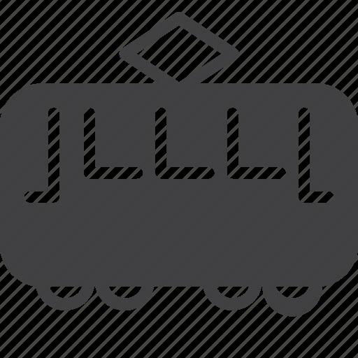 streetcar, tram, transport, trolley icon