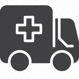ambulance, medical, service, transport, truck icon