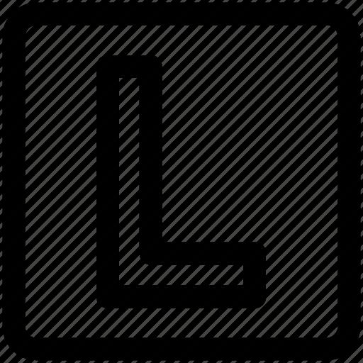 abc, alphabet, font, graphic, l, letter, text icon icon