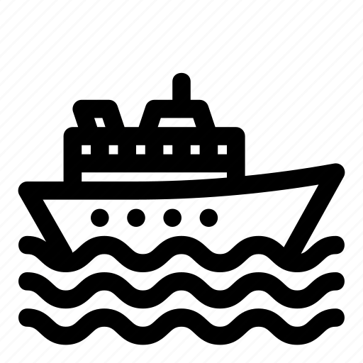 river, sea, ship, steamboat, steamship, transport, water icon