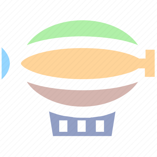 aerial, air, balloon, carry, fly, transport icon
