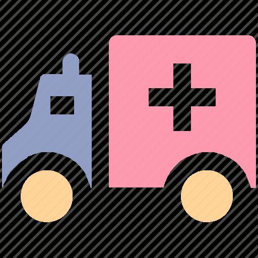 ambulance, ambulance van, clinic van, emergency, hospital van, medical van, transport icon