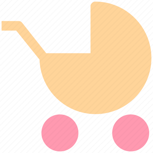 baby, baby trolley, car, carriage, cart, cart trolley, trolley icon